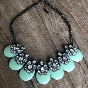 Baublebar Mint Blue & Rhinestone Necklace